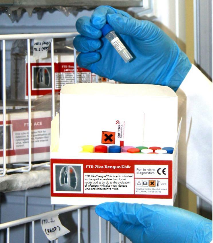 ชุดตรวจ FTD Zika virus (Fast Track Diagnostics, Luxembourg)