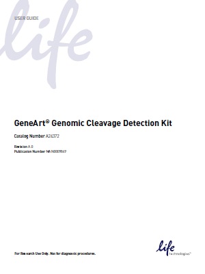 Invitrogen_GeneArt® Genomic Cleavage Detection Kit(USER GUIDE)