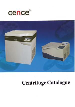 Cence Centrifuge Catalog