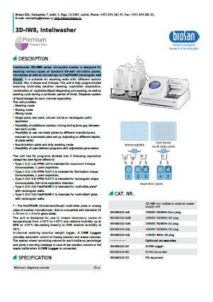 Biosan_3D-IW8, Inteliwasher(Microplate Washer)