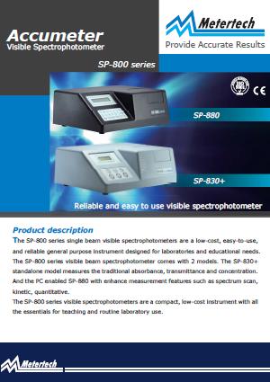 Metertech_Accumeter Visible Spectrophotometer_SP880_SP830+