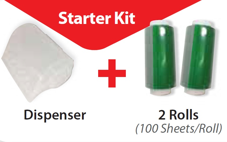 SEAL PLATE STARTER KIT; SEALMATE DISPENSER+2 ROLLS OF SEAL PLATE FILM, 100/ROLL