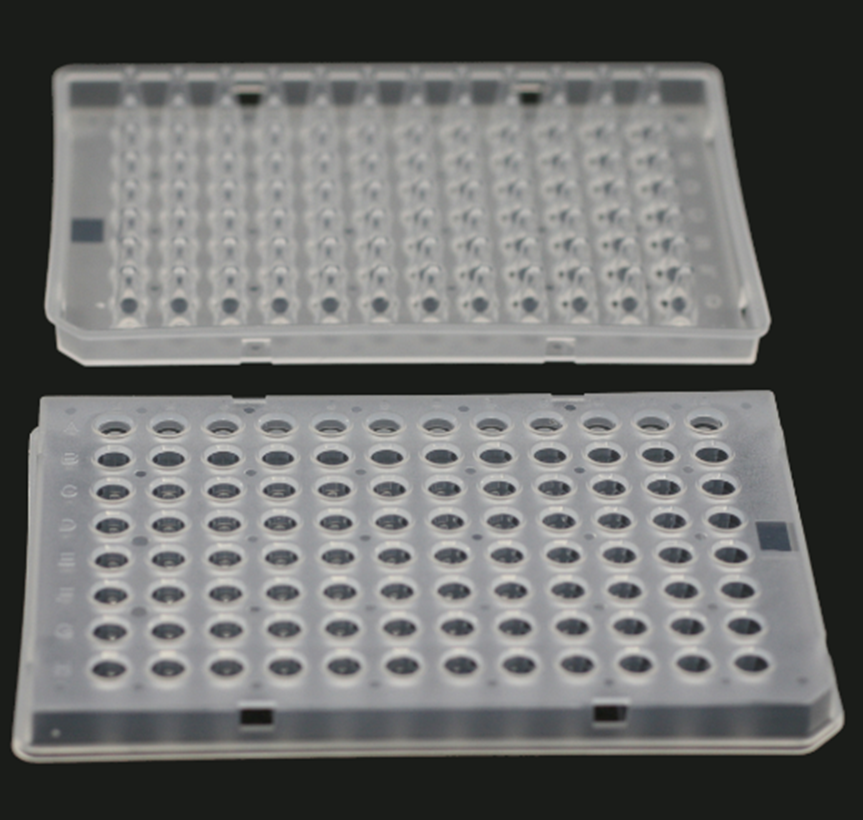 0.1 ML., 96-WELL qPCR PLATES, SEMI-SKIRTED, CLEAR, 15 PCS/BOX