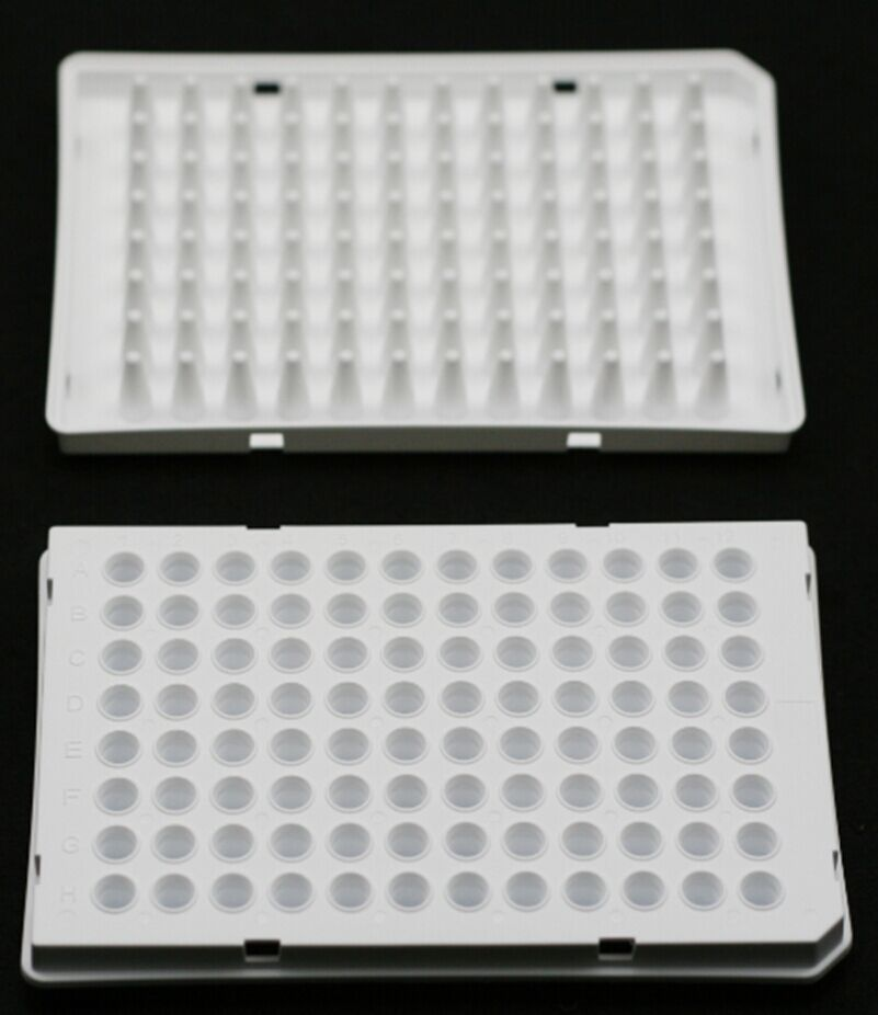 0.1 ML., 96-WELL qPCR PLATES, SEMI-SKIRTED, WHITE, 15 PCS/BOX