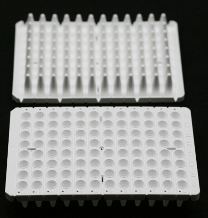 0.2 ML., 96-WELL qPCR PLATES, SEMI-SKIRTED, WHITE, 15 PCS/BOX