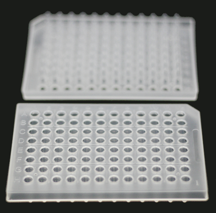 0.2 ML., 96-WELL qPCR PLATES, SKIRTED, CLEAR, 15 PCS/BOX