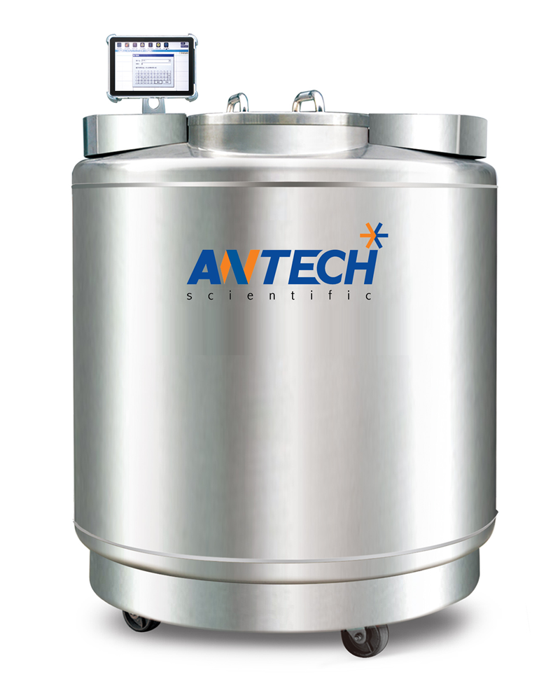 LN2 CAPACITY 670 L. FOR LIQUID PHASE, 115 L. FOR VAPORPHASE