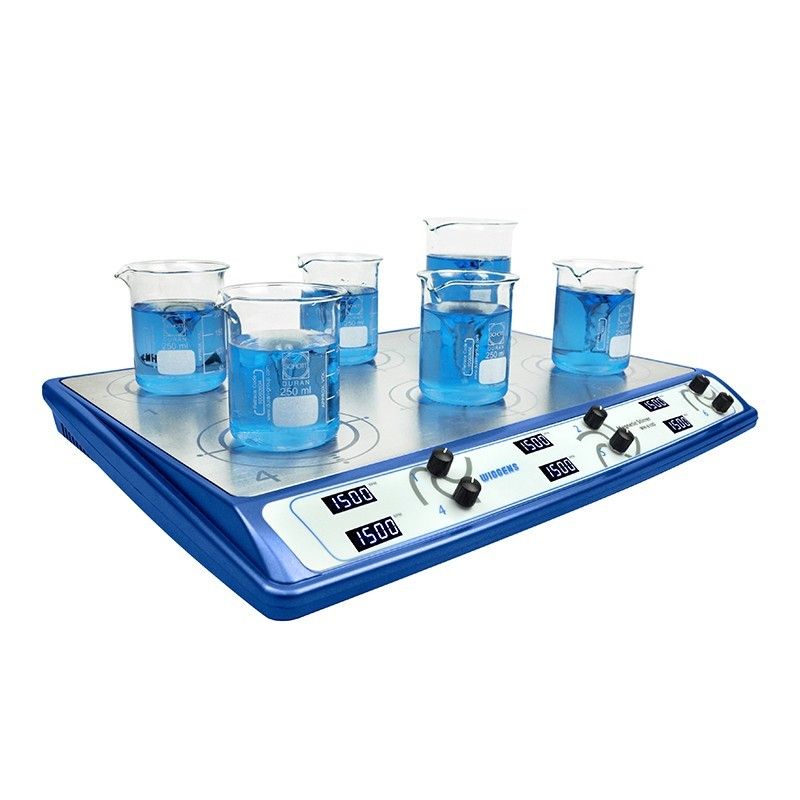 WH-610D MAGNETIC STIRRER, 6 PLACE