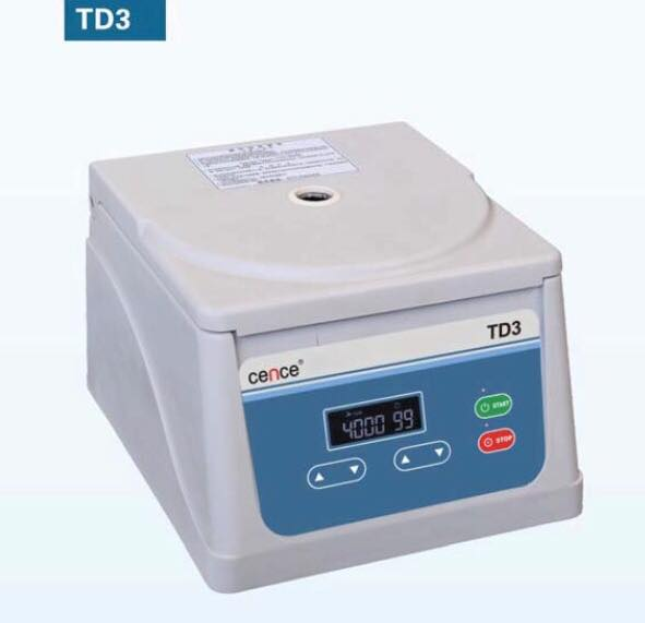 TD3 LOW SPEED CENTRIFUGE W/ROTOR 8X15 ML.