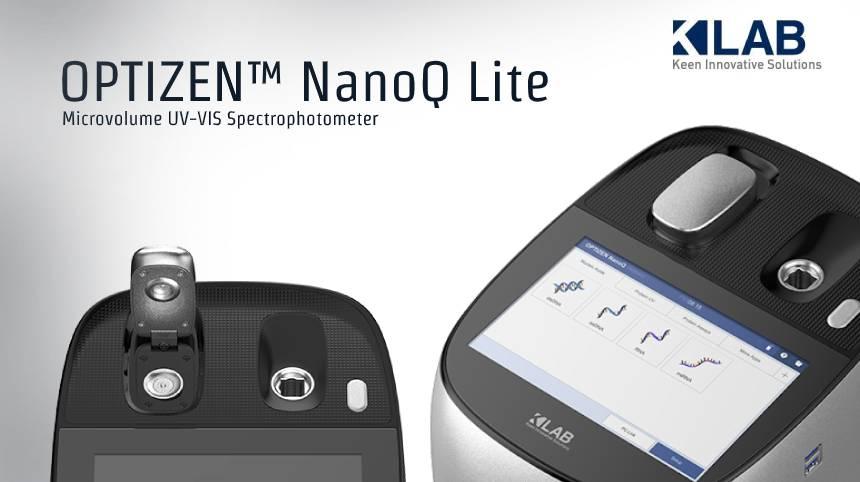 NanoQ Lite - เครื่องวิเคราะห์ปริมาณ DNA และ PROTEIN  โดยใช้หลักการวิเคราะห์ค่าการดูดกลืนแสง (Microvolume Spectrometer)
