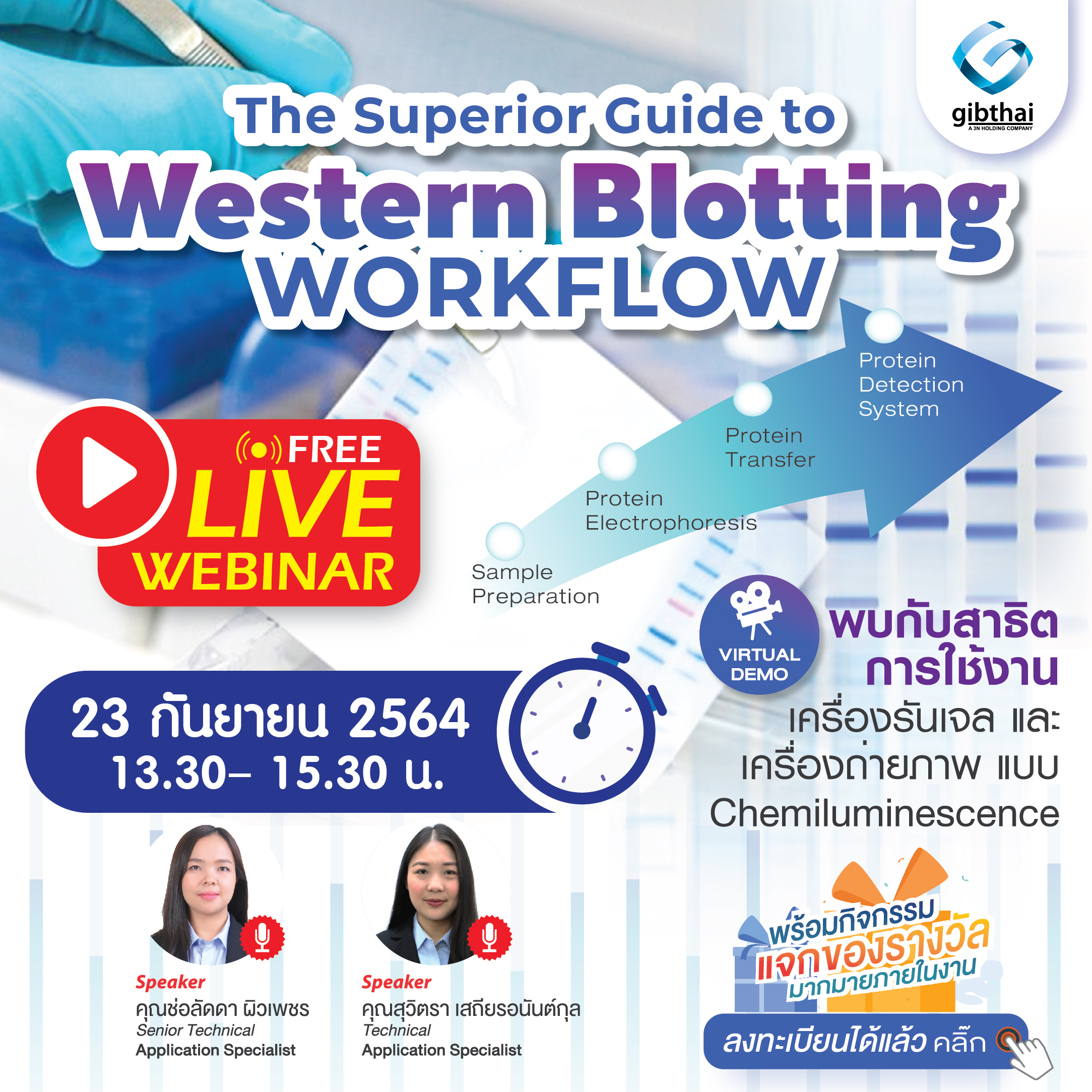 Webinar : The Superior Guide to Western Blotting Workflow